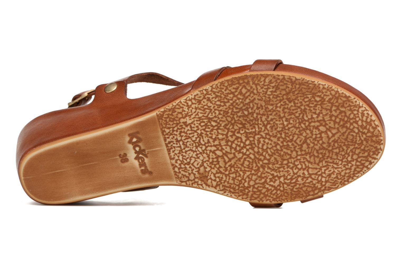 Sandales et nu-pieds Kickers Takit Marron vue haut