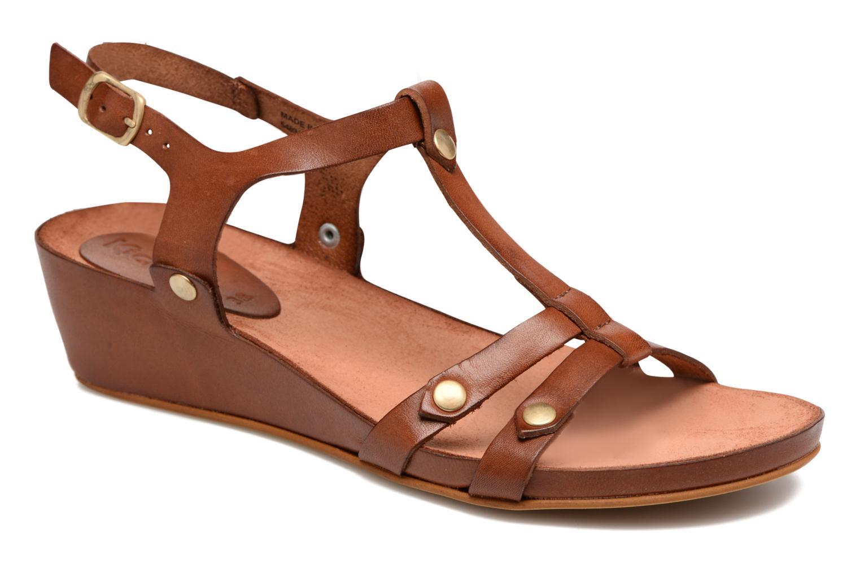 Sandales et nu-pieds Kickers Takit Marron vue détail/paire