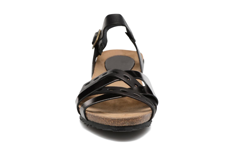 Sandales et nu-pieds Kickers Tokanne Noir vue portées chaussures
