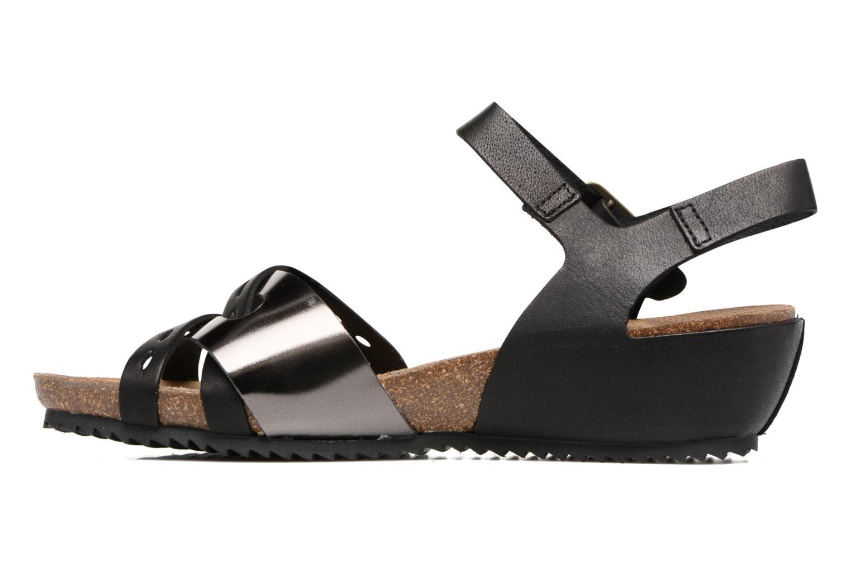 Sandales et nu-pieds Kickers Tokanne Noir vue face