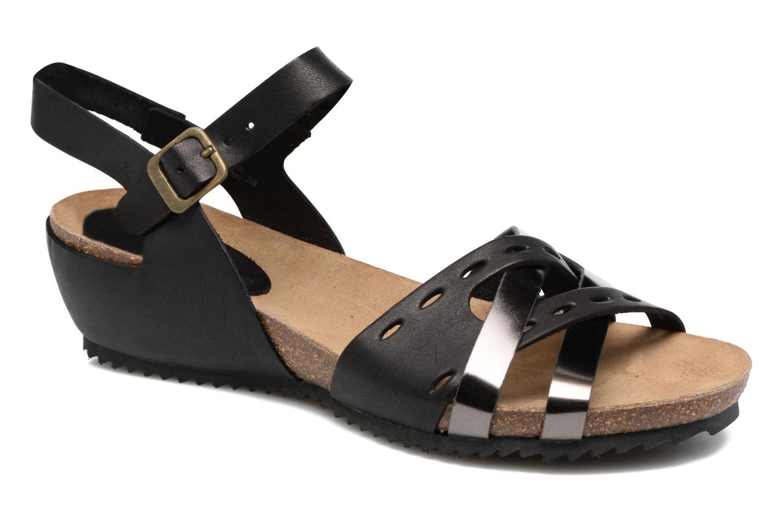 Sandales et nu-pieds Kickers Tokanne Noir vue détail/paire