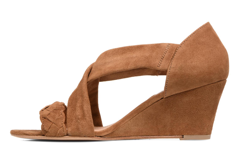Sandals COSMOPARIS Vika/Tre Brown front view
