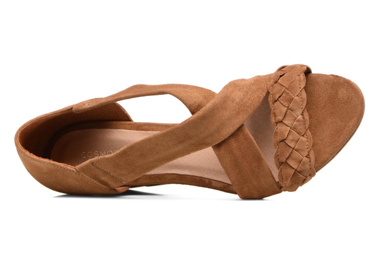 Sandales et nu-pieds COSMOPARIS Vika/Tre Marron vue gauche