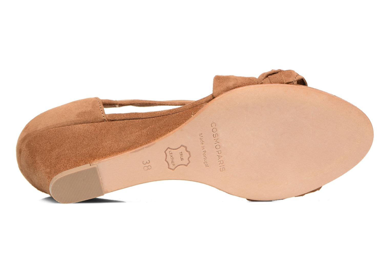 Sandales et nu-pieds COSMOPARIS Vika/Tre Marron vue haut
