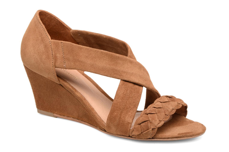 Sandals COSMOPARIS Vika/Tre Brown detailed view/ Pair view