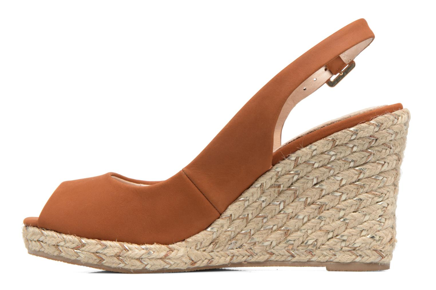 Sandals COSMOPARIS Lany Brown front view