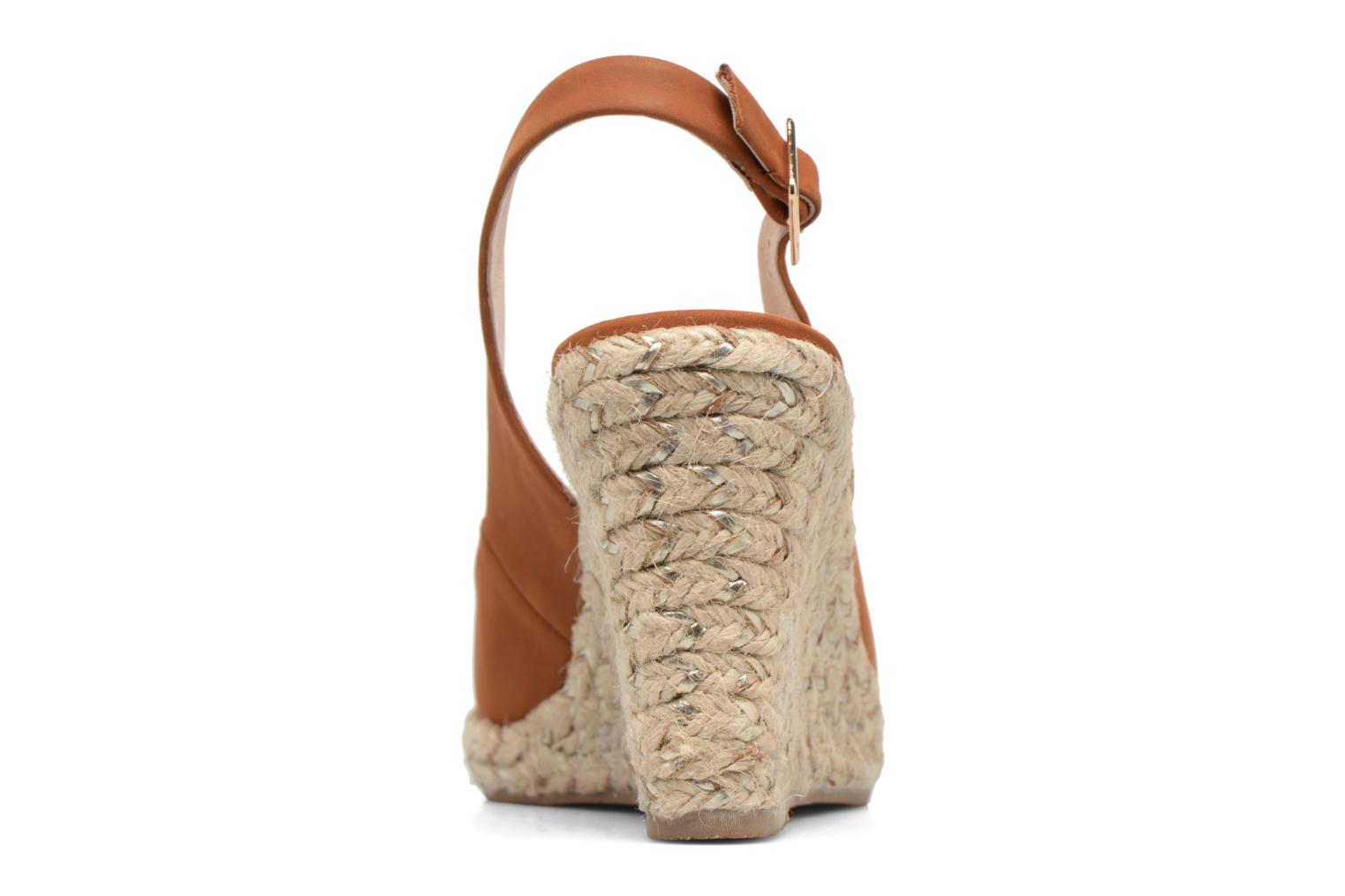 Sandals COSMOPARIS Lany Brown view from the right
