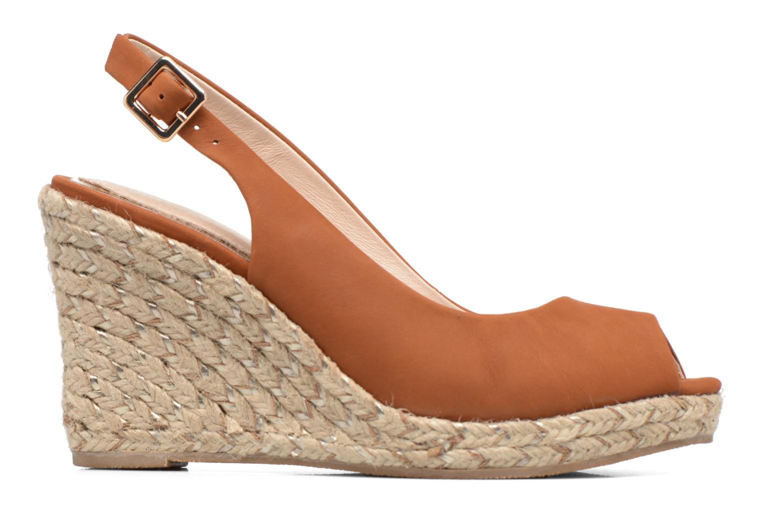 Sandals COSMOPARIS Lany Brown back view