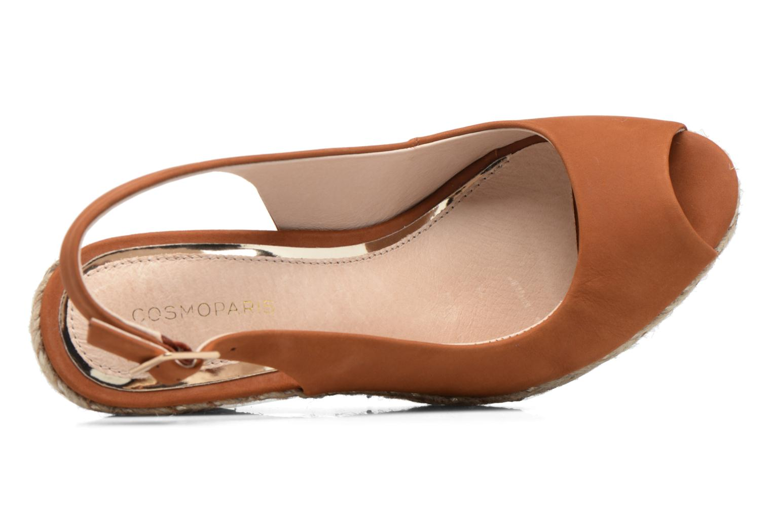 Sandals COSMOPARIS Lany Brown view from the left
