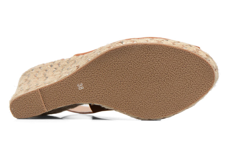 Sandalen COSMOPARIS Lany braun ansicht von oben