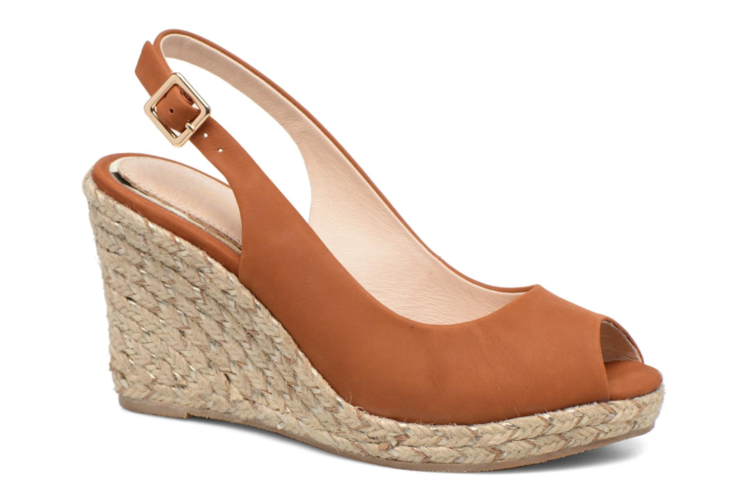 Sandals COSMOPARIS Lany Brown detailed view/ Pair view