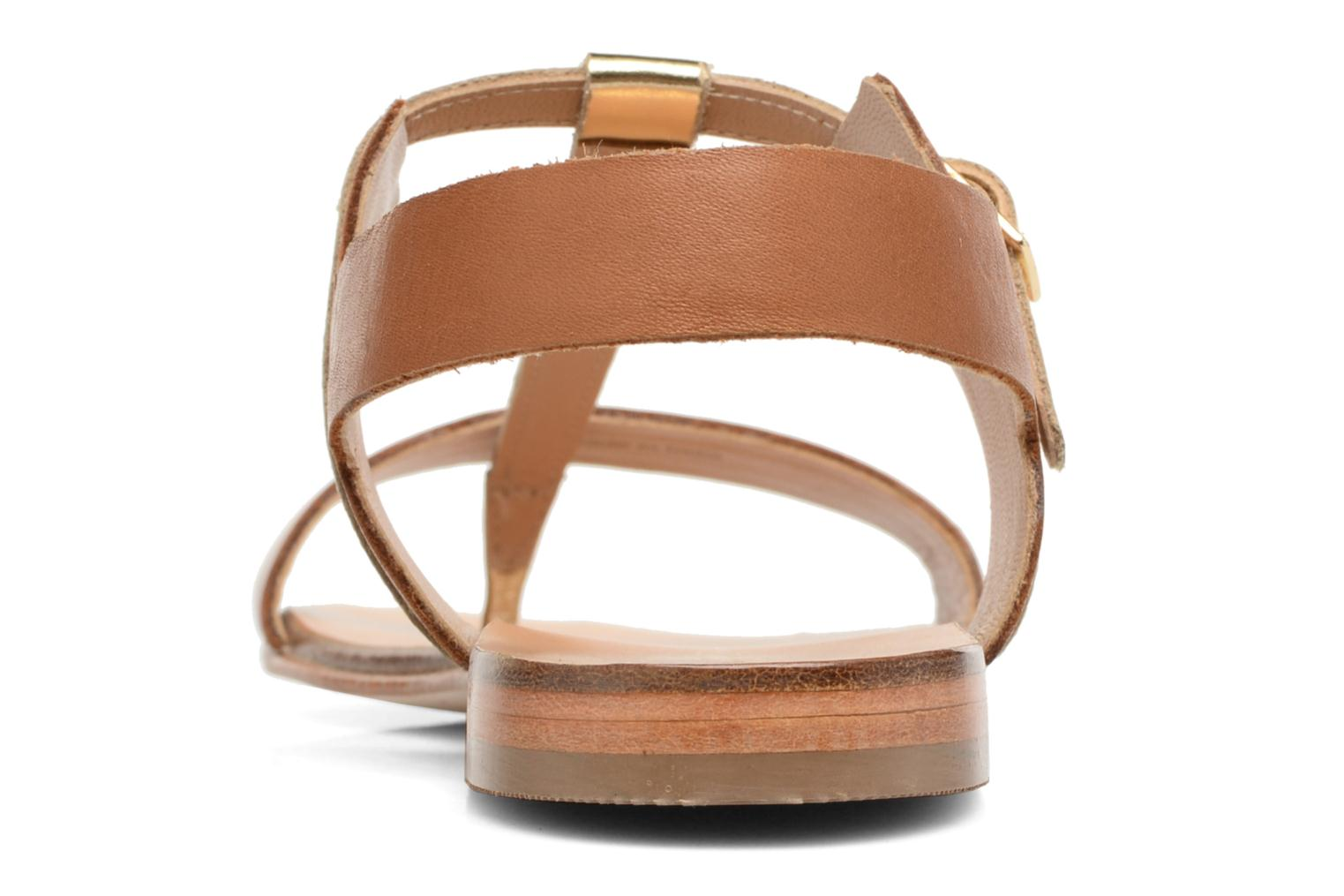 Sandals COSMOPARIS Laya/Cuir Brown view from the right