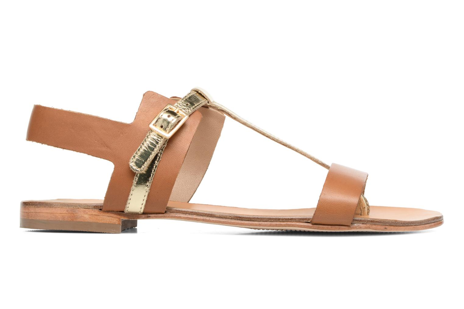 Sandals COSMOPARIS Laya/Cuir Brown back view