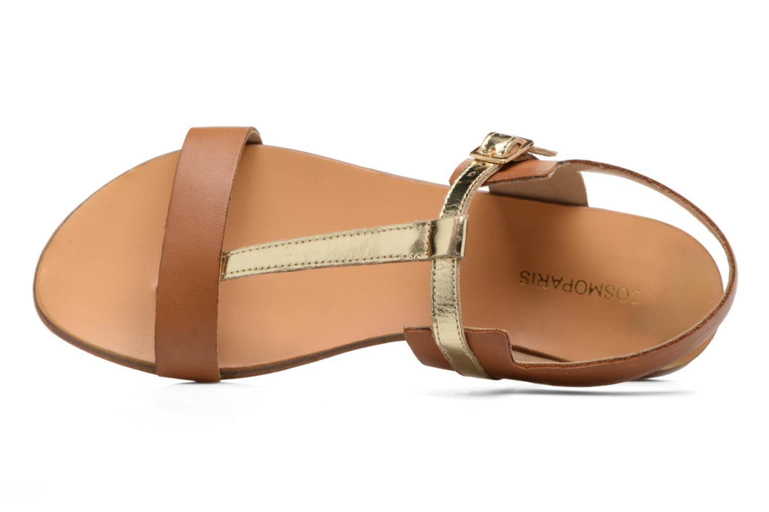 Sandals COSMOPARIS Laya/Cuir Brown view from the left