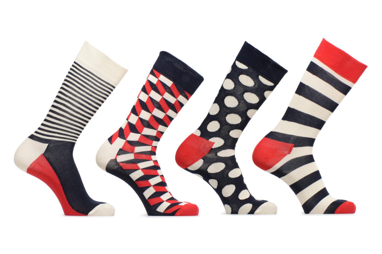 Strømper og tights Happy Socks Chaussettes Classic Gift box Blå detaljeret billede af skoene