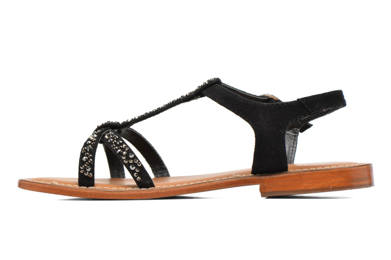 Sandales et nu-pieds L'Atelier Tropézien Mimy Noir vue face