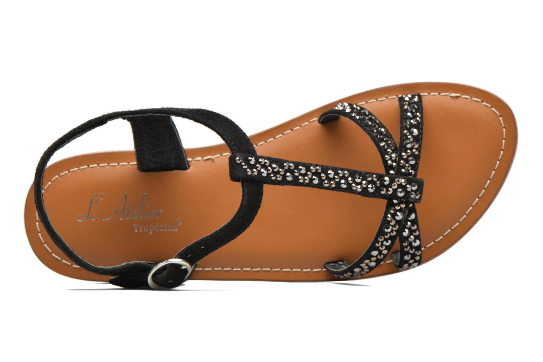 Sandales et nu-pieds L'Atelier Tropézien Mimy Noir vue gauche