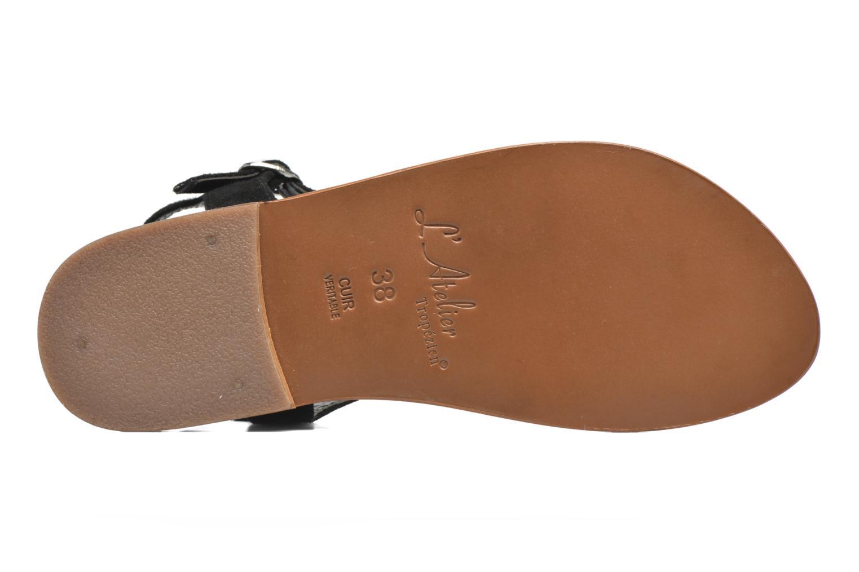 Sandales et nu-pieds L'Atelier Tropézien Mimy Noir vue haut