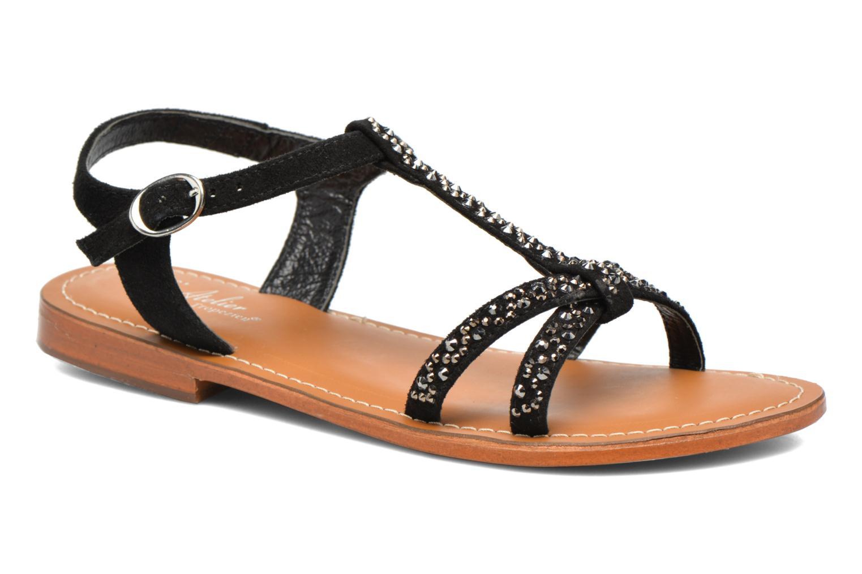 Sandales et nu-pieds L'Atelier Tropézien Mimy Noir vue détail/paire