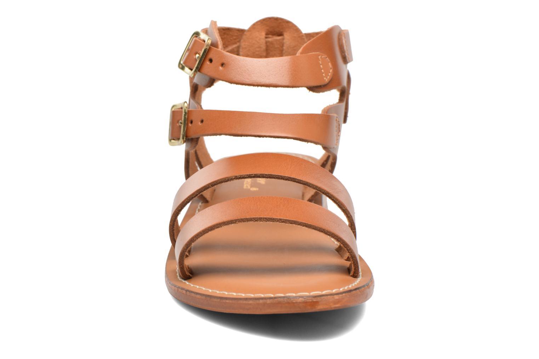 Sandalen L'Atelier Tropézien Liz braun schuhe getragen