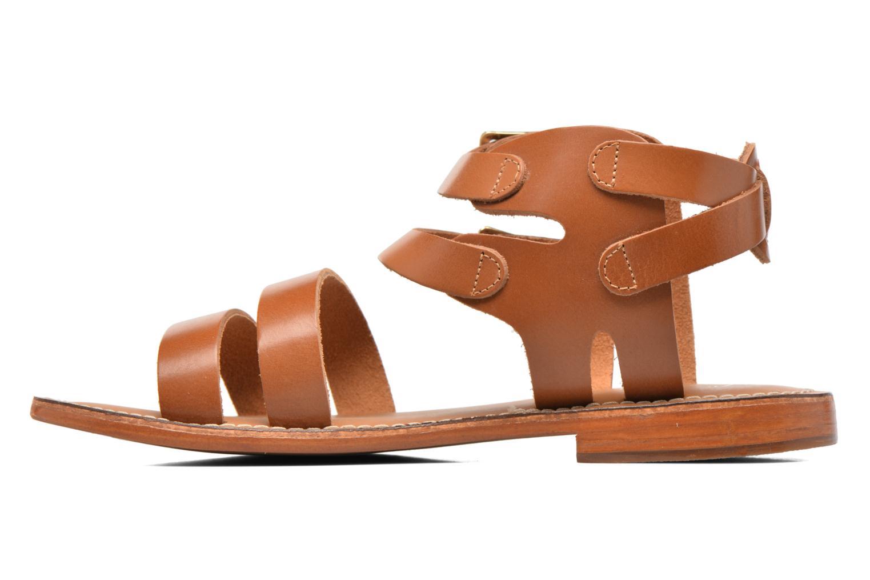 Sandalen L'Atelier Tropézien Liz braun ansicht von vorne