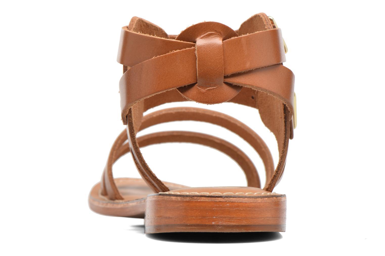 Sandali e scarpe aperte L'Atelier Tropézien Liz Marrone immagine destra