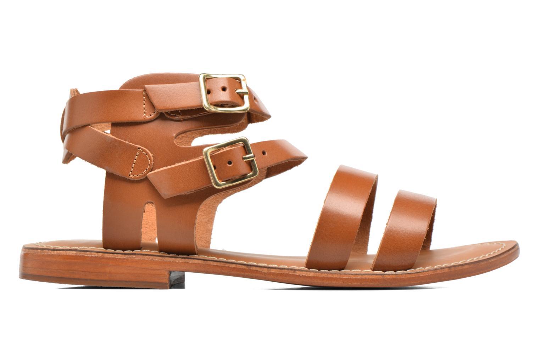 Sandales et nu-pieds L'Atelier Tropézien Liz Marron vue derrière