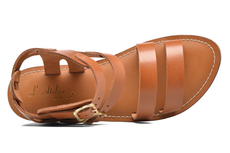 Sandali e scarpe aperte L'Atelier Tropézien Liz Marrone immagine sinistra