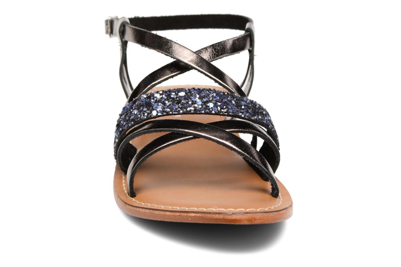 Sandales et nu-pieds L'Atelier Tropézien Juju Noir vue portées chaussures
