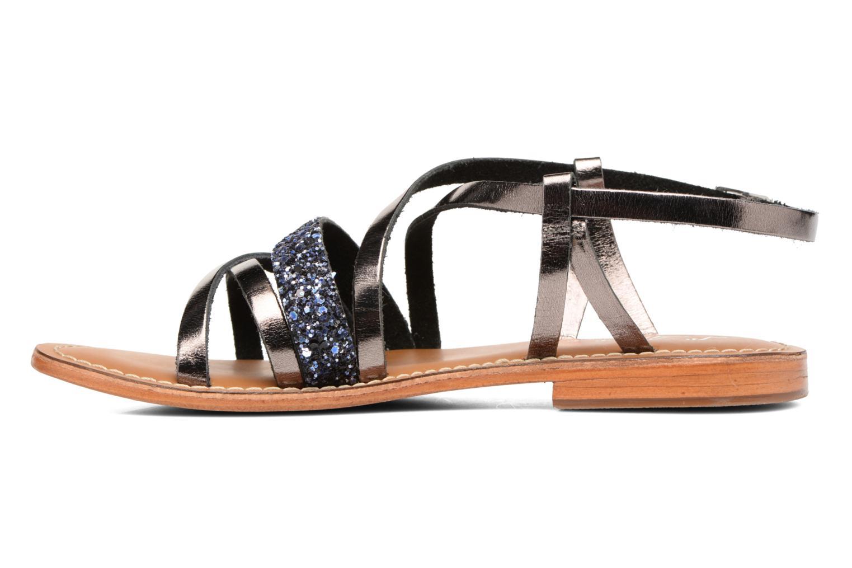 Sandales et nu-pieds L'Atelier Tropézien Juju Noir vue face