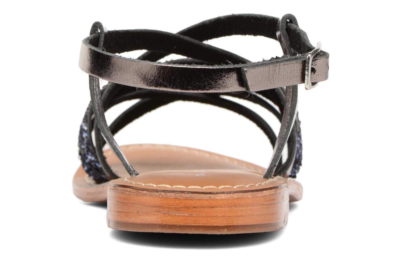 Sandales et nu-pieds L'Atelier Tropézien Juju Noir vue droite