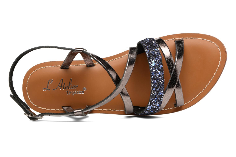 Sandales et nu-pieds L'Atelier Tropézien Juju Noir vue gauche