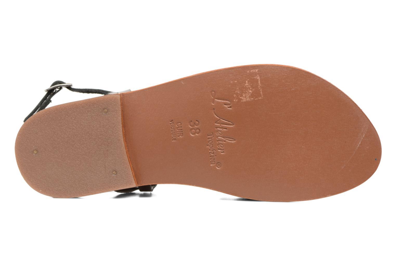Sandales et nu-pieds L'Atelier Tropézien Juju Noir vue haut