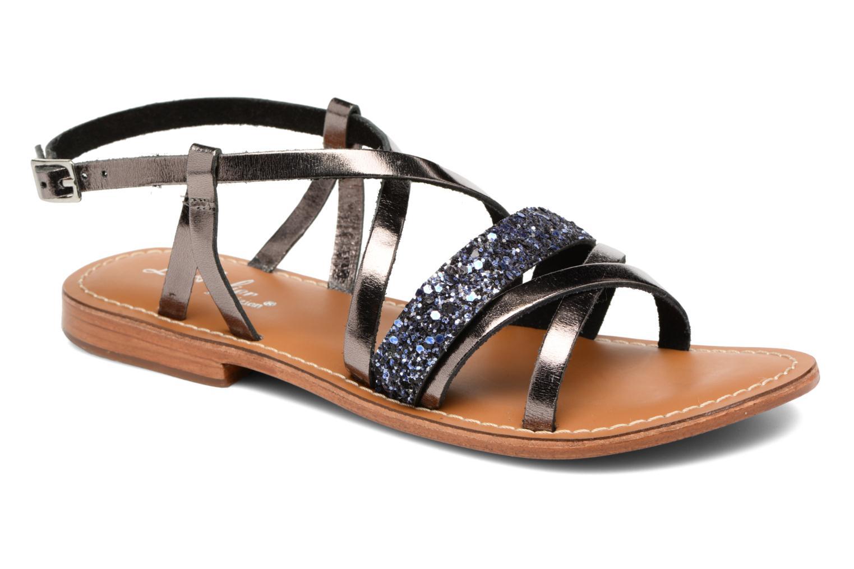 Sandales et nu-pieds L'Atelier Tropézien Juju Noir vue détail/paire