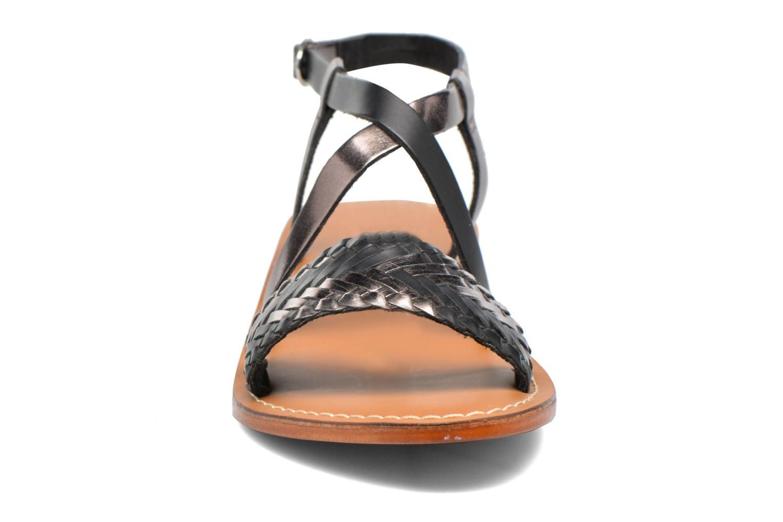 Sandales et nu-pieds L'Atelier Tropézien Suzanne Noir vue portées chaussures