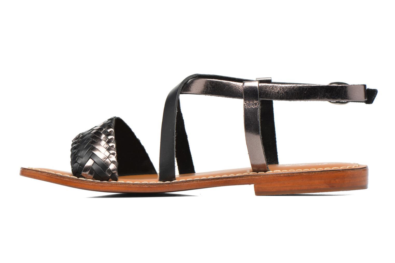 Sandales et nu-pieds L'Atelier Tropézien Suzanne Noir vue face