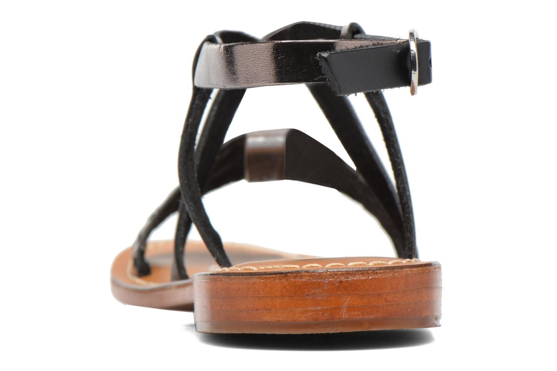 Sandales et nu-pieds L'Atelier Tropézien Suzanne Noir vue droite