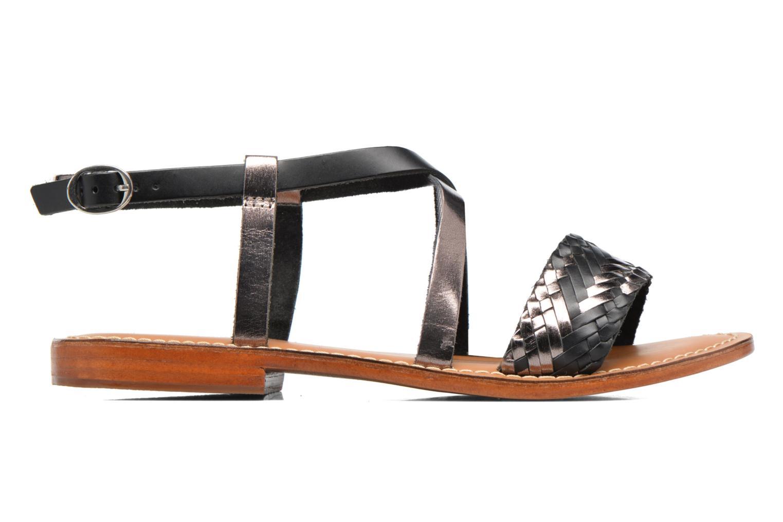 Sandales et nu-pieds L'Atelier Tropézien Suzanne Noir vue derrière
