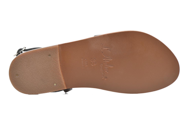 Sandales et nu-pieds L'Atelier Tropézien Suzanne Noir vue haut