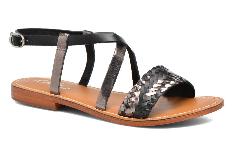 Sandales et nu-pieds L'Atelier Tropézien Suzanne Noir vue détail/paire