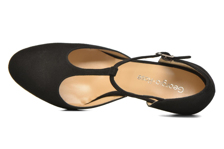 Zapatos de tacón Georgia Rose Sialto salomé Negro vista lateral izquierda