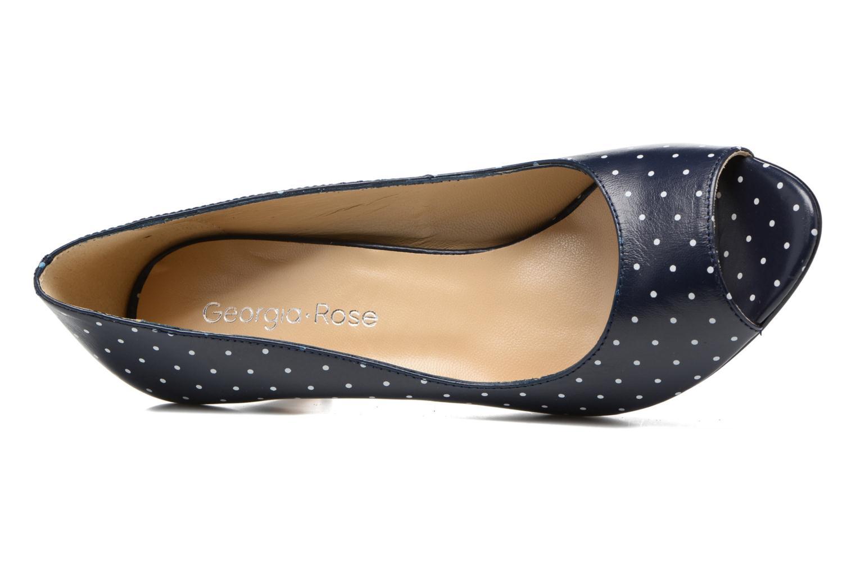 Zapatos de tacón Georgia Rose Sotoe Azul vista lateral izquierda