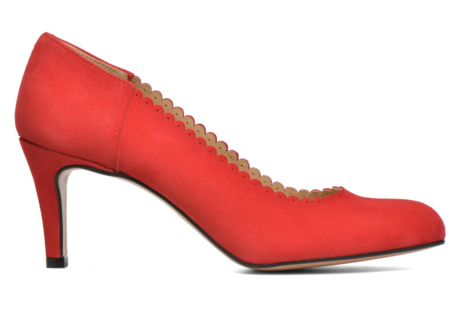 Saston velours rouge