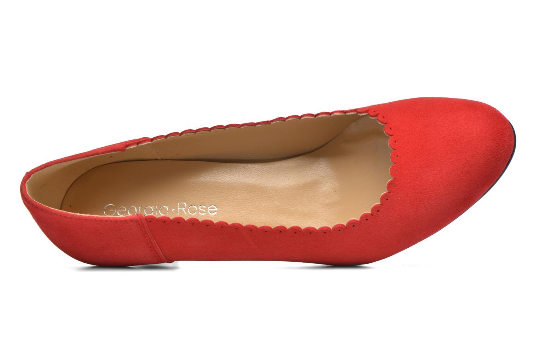 Zapatos de tacón Georgia Rose Saston Rojo vista lateral izquierda