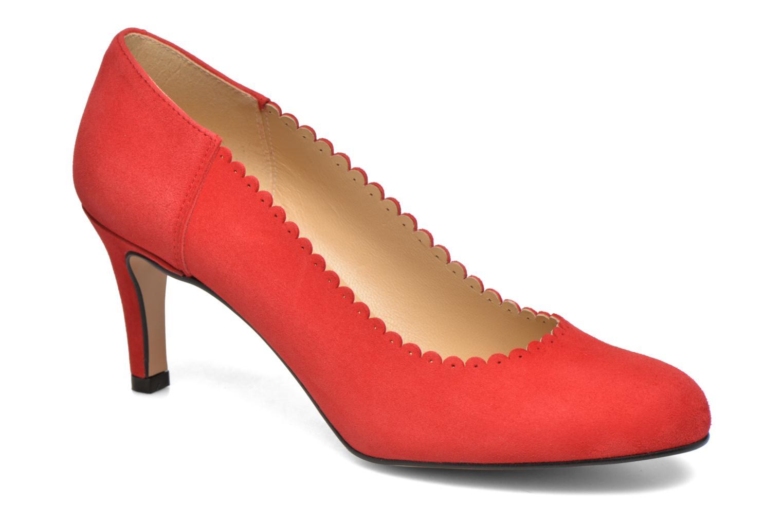 Høje hæle Georgia Rose Saston Rød detaljeret billede af skoene