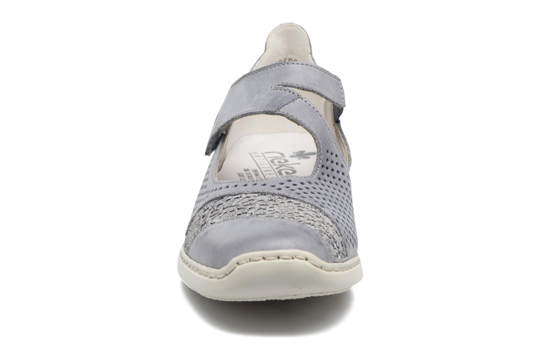 Ballerines Rieker Rea 41346 Bleu vue portées chaussures