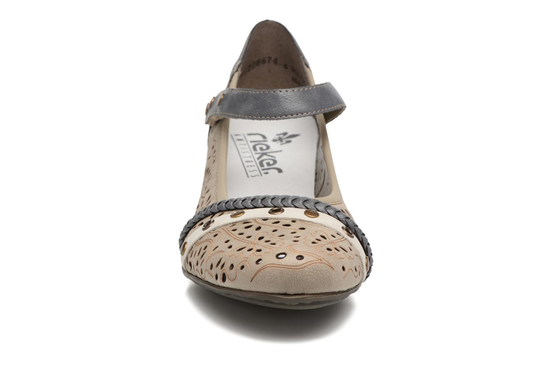 Escarpins Rieker Aart 41756 Bleu vue portées chaussures
