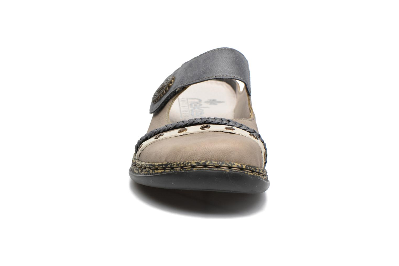 Mules et sabots Rieker Joren 46369 Bleu vue portées chaussures