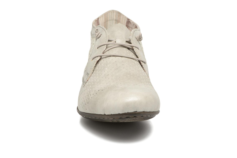 Chaussures à lacets Rieker Ruben 51928 Blanc vue portées chaussures