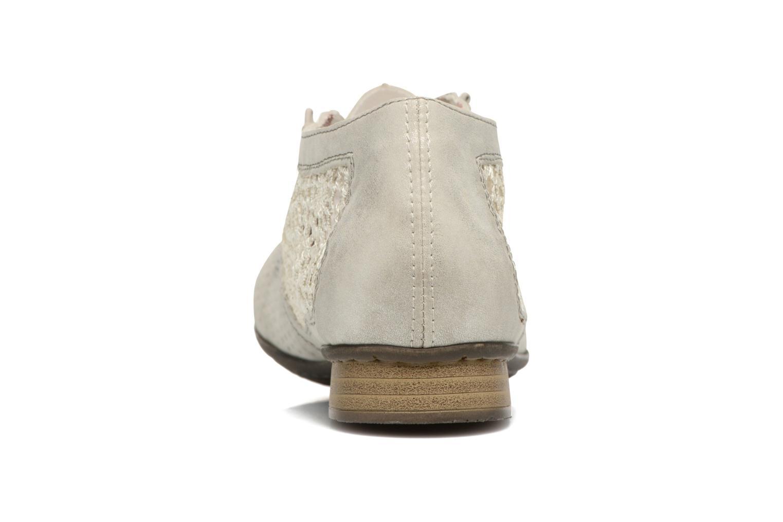 Chaussures à lacets Rieker Ruben 51928 Blanc vue droite